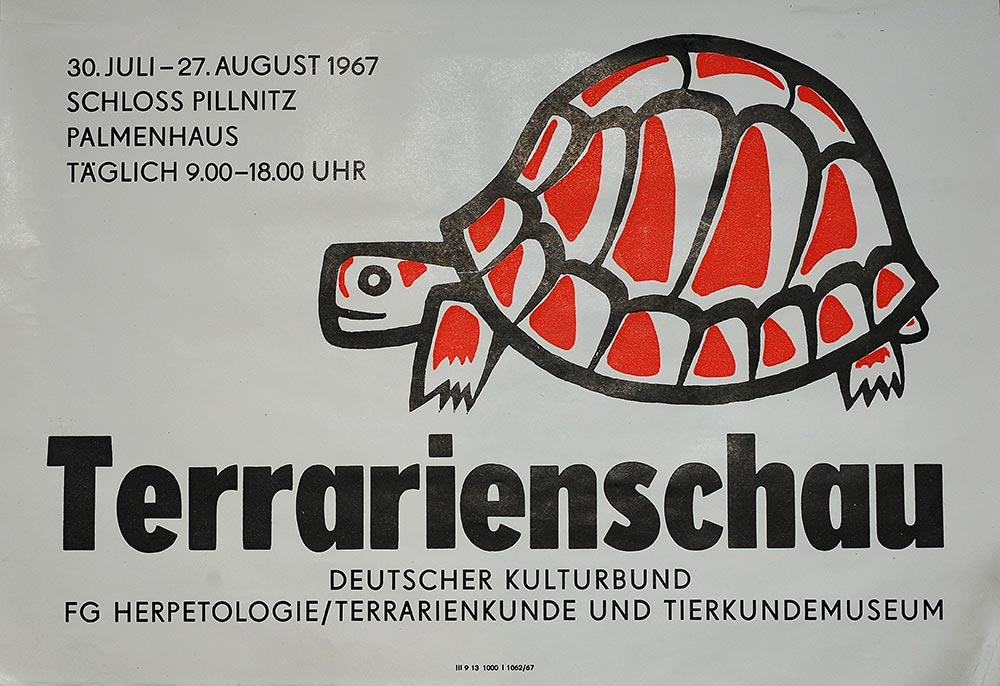 1967: 1. Dresdner Terrarienschau, Plakat