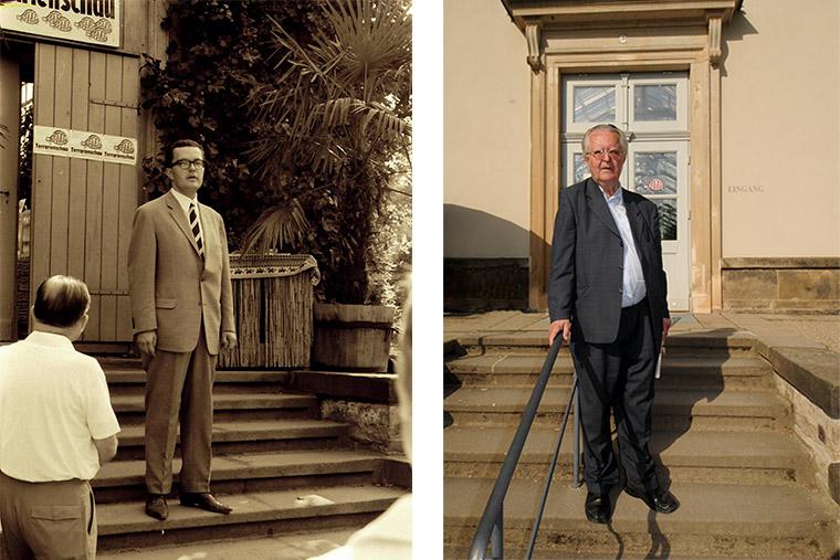 Fritz Jürgen Obst 1967 bei der Eröffnung der ersten Terrarienschau und 2012