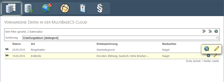 Bedienung MultiBaseCE Cloud
