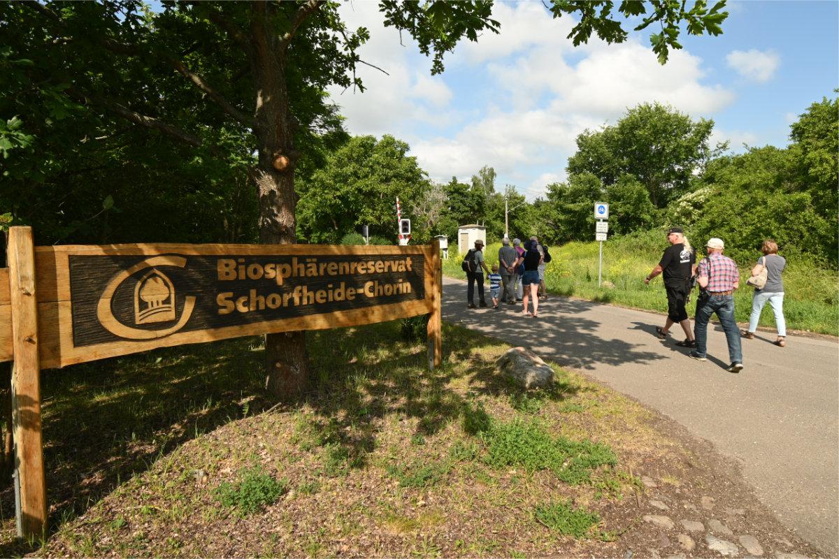 Eingang zum Biosphärenreservat Schorfheide-Chorin